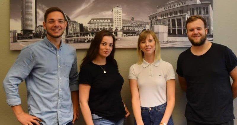 Alexander Sing, Jennifer-Ann Wanzek, Helene Schumann und Felix Hell