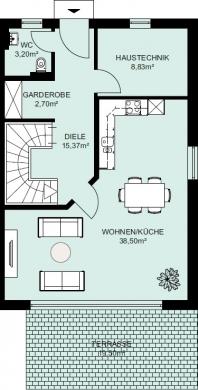 Individuelles Reihnhaus mit Garten + Außenjalousien + Stellplatz + Parkett +, 04435 Schkeuditz, Reihenendhaus